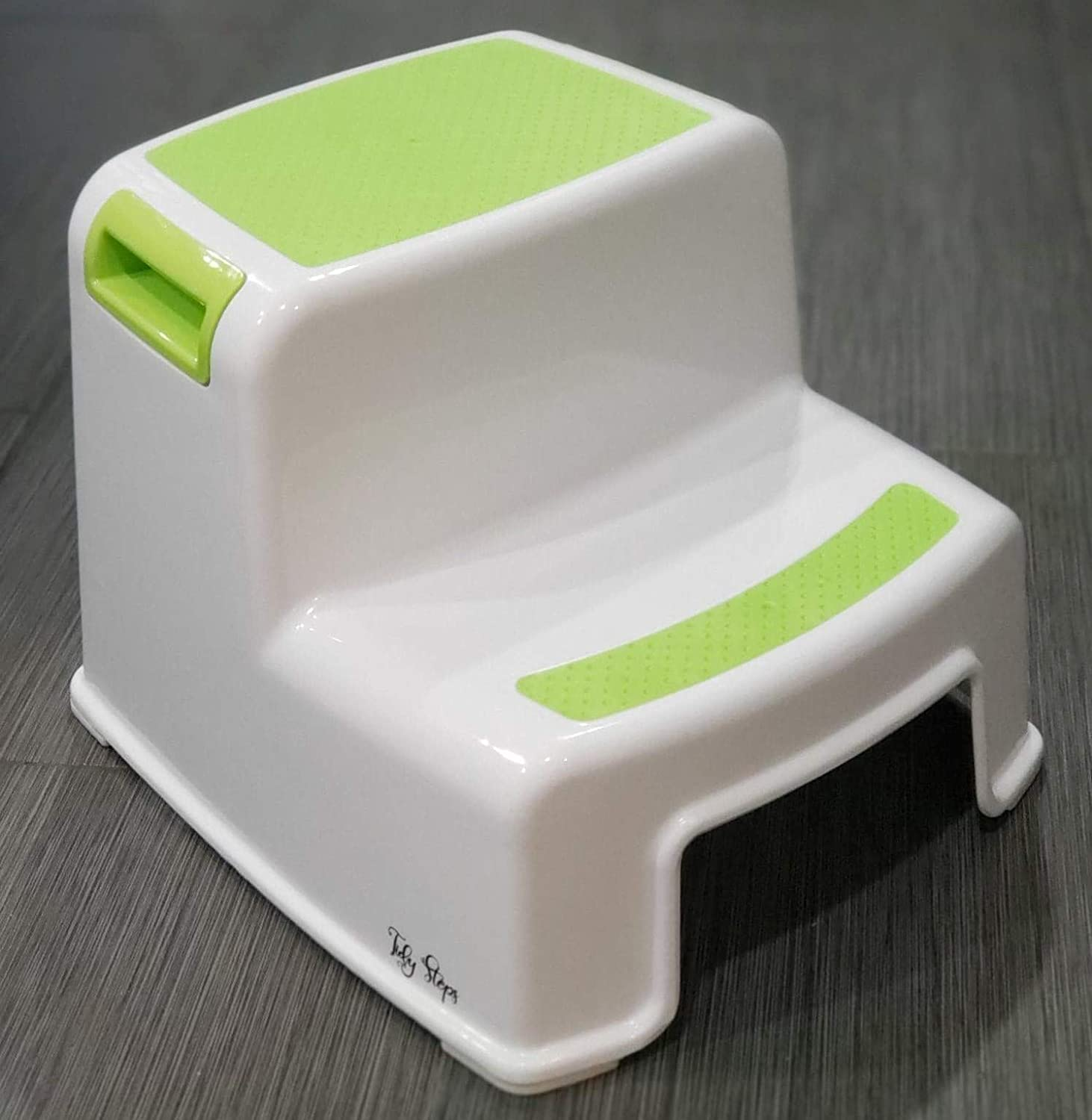 Tidy Whatnots 2 Pack Double Step Stool for Adults and Children for Everyday Use Slip Resistant Soft Grip for Safety as Bathroom Potty Stool and Kitchen Step Stool
