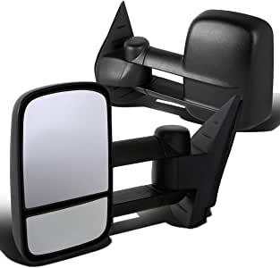 Replacement Set Manual Side Tow Mirrors w//Telescopic Dual Arms Compatible with 2014-2018 Silverado Sierra 2019 LD//Limited Pickup Truck 22820395 22820396