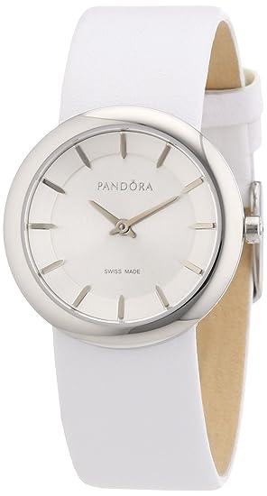 Pandora 811018WH - Reloj analógico de mujer de cuarzo con correa de piel blanca: Amazon.es: Relojes