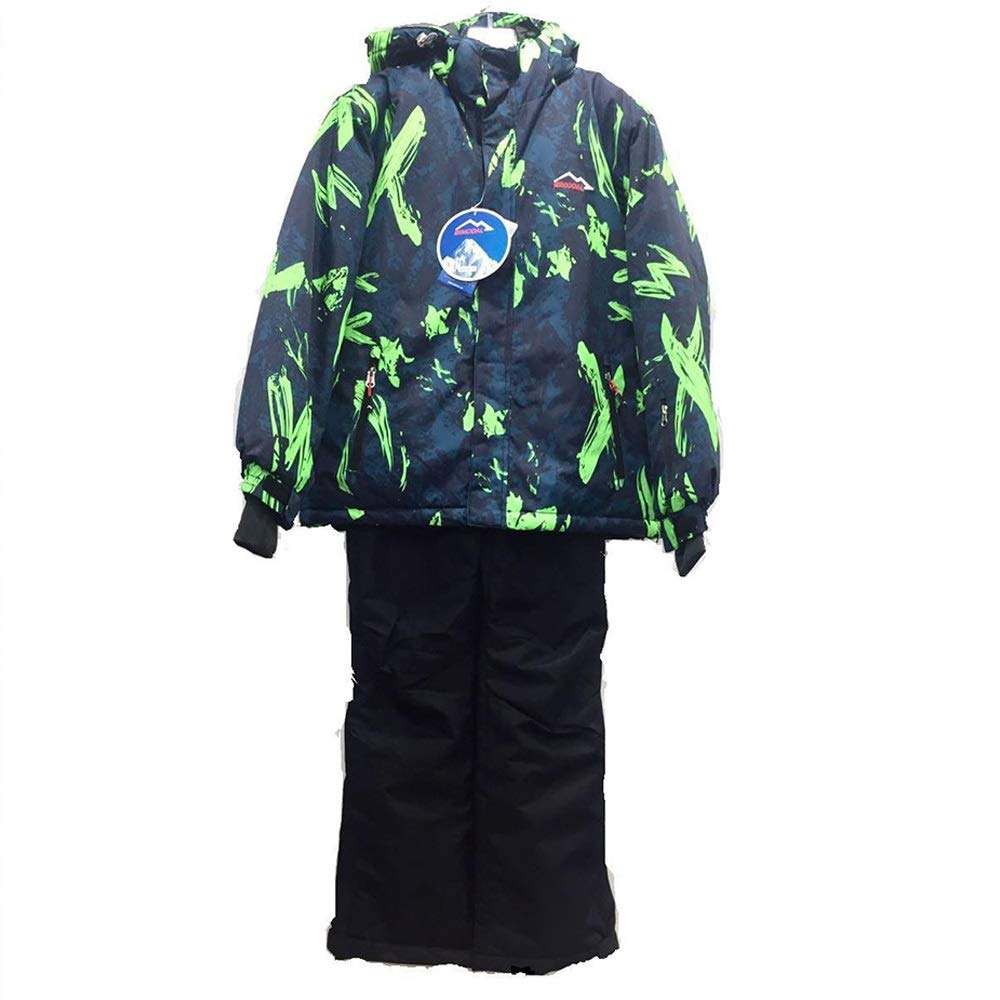 Gimitunus Snowsuit Impermeabile Antivento, Abbigliamento da Sci per Bambini Warm And Cold Down Cotton Snowsuit