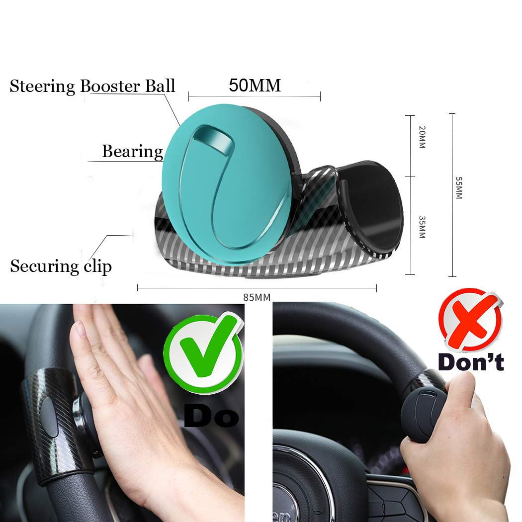 Best Auto Car Steering Wheel Aid Spinner Spin Clamp Knob Ball Booster 85mm*55mm\t Fast Color Controllers