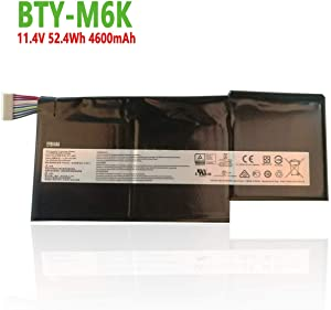 efohana BTY-M6K Laptop Battery Replacement for MSI Stealth Pro MS-17B4 MS-16K3 GS63VR 7RG 7RG-005 GF63 8RD 8RC GF75 Thin 3RD 8RC 9SC 9SC-088CN Series Notebook BP-16K1-31 BTY-U6J 11.4V 52.4Wh 4600mAh