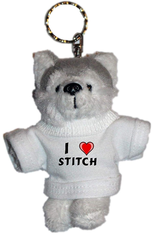Shopzeus Llavero de Husky (Perro) de Peluche con Amo Stitch ...