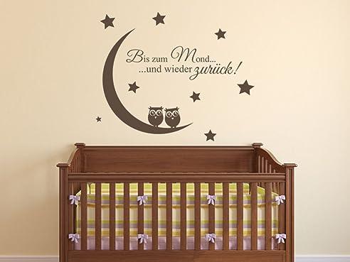 Wandtattoo Kinderzimmer Bis Zum Mond Und Wieder Zurück ! Nr 1 Babyzimmer  Wanddeko Von Wandtattoo