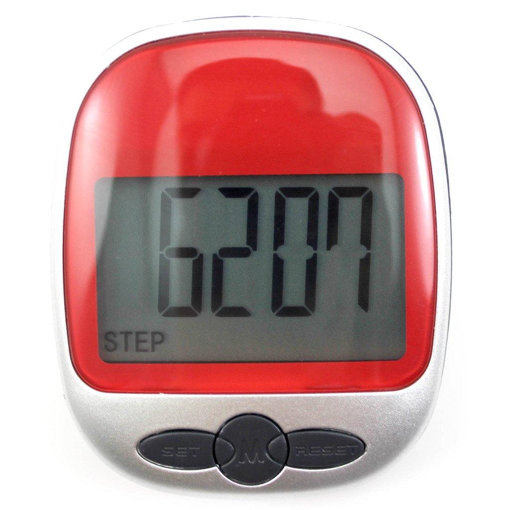 VANKER 1pcレッドポータブルLCD表示スポーツステップ歩数計ウォーキングカロリーカウンター B0126VTHSG