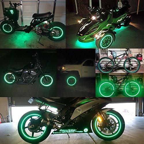 customTAYLOR33 (Todos Los Vehículos) Cinta Adhesiva Reflectante De Seguridad De Alta Intensidad Verde Para Llantas (Debe Seleccionar El Diámetro Correcto), ...