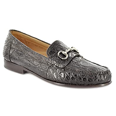 Alan Payne Men's Shoes Mauricio Crocodile Horse Bit Loafer