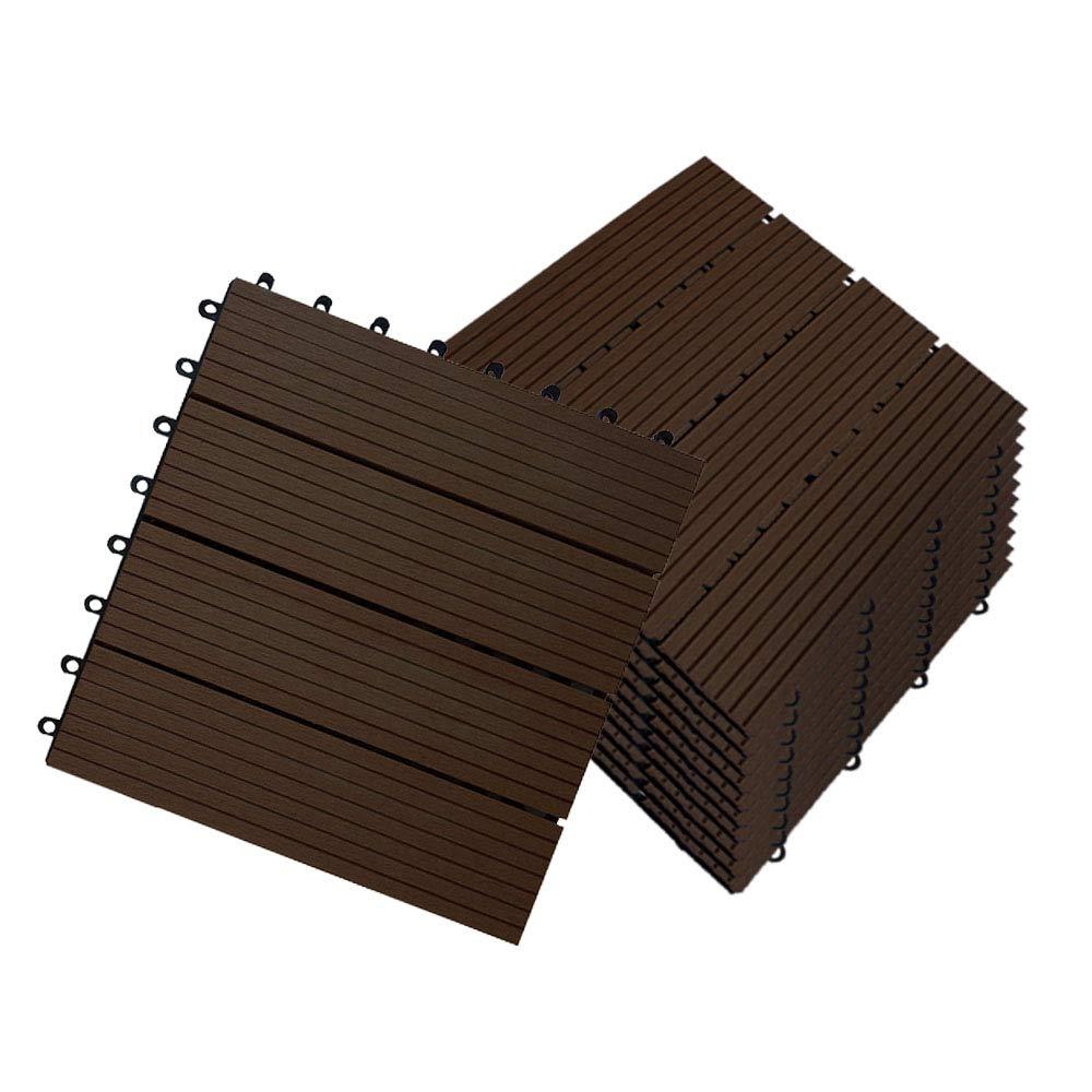 Hengmei 11x Terrassenfliesen Fur 1m Wpc 30x30cm Holz Optik