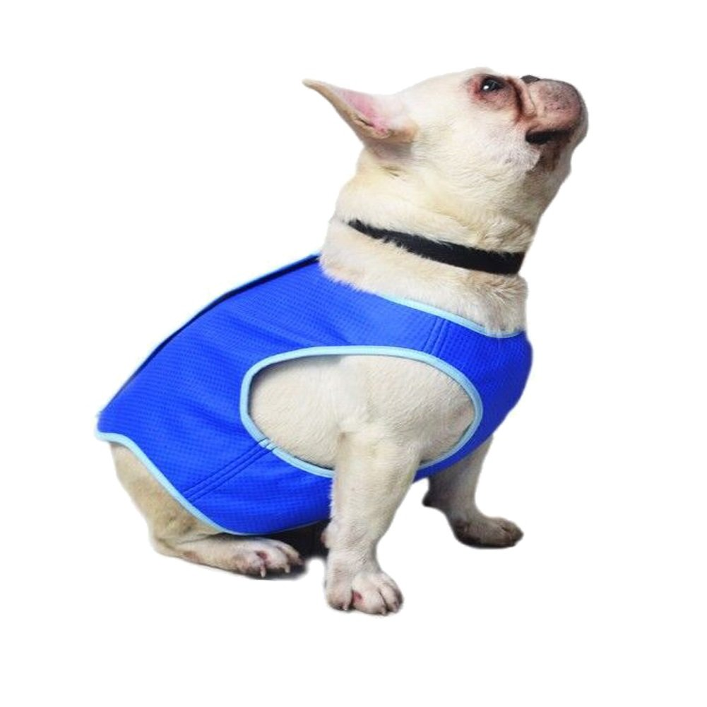 Bonaweite Dog Cooling Vest, Pet Harness Cooler Jacket Coats Swamp Cooler for Puppies Cats Kittens, Blue