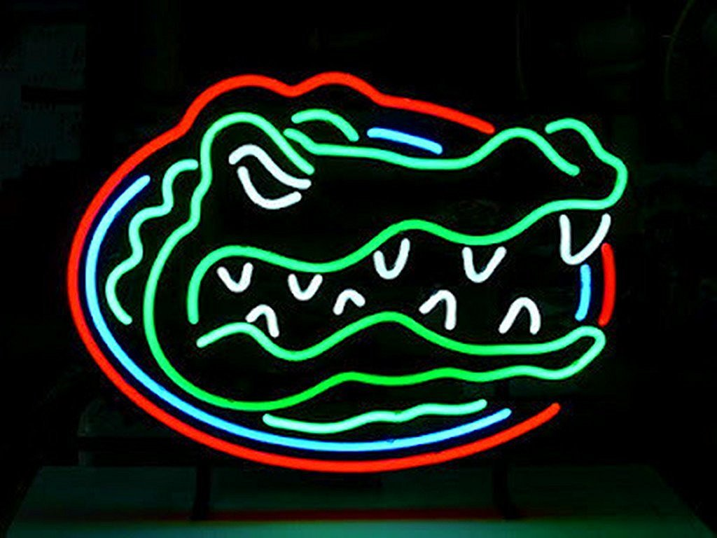 Urby™ Florida gators Real Glass Neon Light Sign Home Beer Bar Pub Recreation Room Game Room Windows Garage Wall Sign 18''x14'' A16-08