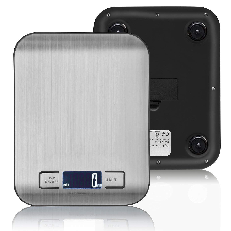 Amazon.com: Bascula Digital Multifuncional Para Cocina Precisa - Uso Fácil Elegante Con Baterías: Kitchen & Dining