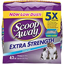 Scoop Away Extra Strength Cat Litter, Scented, 42 Pounds