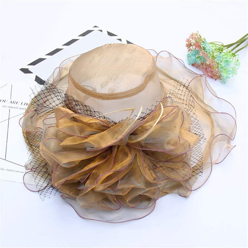 Fashion Elegant Clothing Caps UV Protection Sunhat Lefthigh Big Flower Mesh Hat Grand Banquet Hat