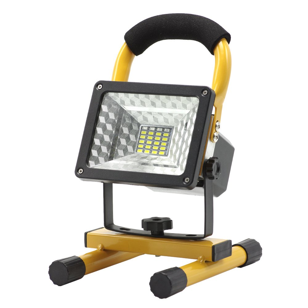 eTopLighting 15W Portable LED Flood Work Light with 24 LED Chips Rechargeable Battery and Built-in Power Bank for Outdoor for Garages, Traveling, Camping, Emergency, APL1561 by