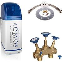 Aqmos R2D2-32 Wateronthardingsinstallatie met aansluitset 1 inch en montageblok 1 inch   waterontharder voor huishoudens…