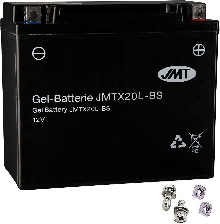 YTX20L-BS Gel Batterie f/ür FXDL 1450 Dyna Low Rider Baujahr 1999-2003 von JMT