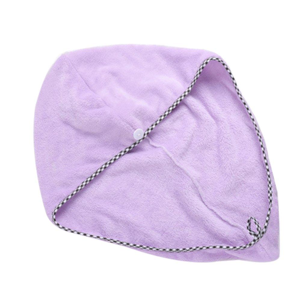 Cosanter Donna Microfibra asciugamani elastica Cuffia da doccia Bagno Tappo Tappo Frau Baden capelli Salon Cappello