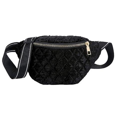 02d5b81dea47 Amazon.com | Refaxi Shoulder Diagonal Chest Bag Waist Bag Gold ...