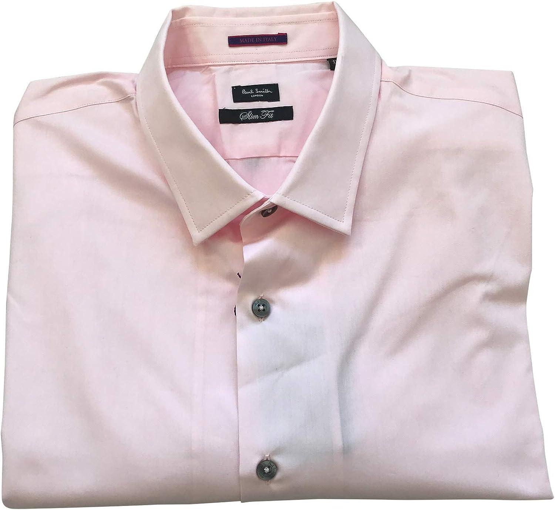 Paul Smith Londres Individual Vuelta Formal Manga Larga Camisa Corte Slim Rosa: Amazon.es: Ropa y accesorios