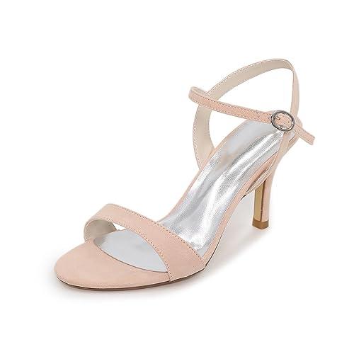 Elegant Mujer Sandalias Innovador Zapatos del club Cuero Materiales Verano Boda Vestido Fiesta y Noche Pedrería
