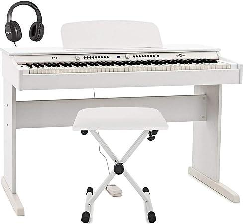 Set de Piano Digital DP-6 de Gear4music + Accesorios Blanco