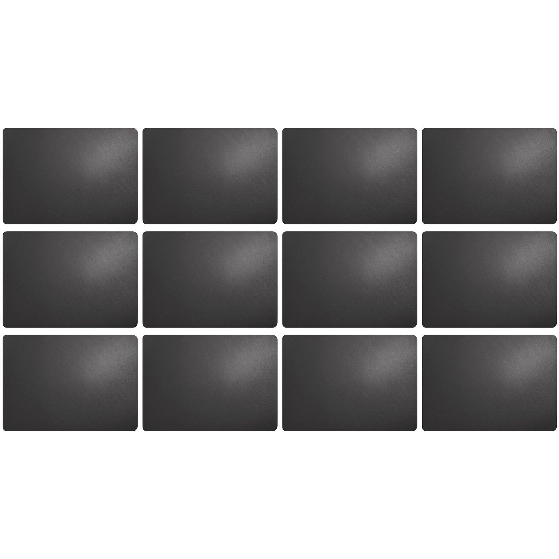 ASA Tischset schwarz Lederoptik 33 x 46 cm Platzset Kunstleder
