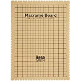 """The Beadsmith Mini Macrame Board, 11.5 x 15.5 inches, 0.5-inch-Thick Foam, 10x4"""" Grid for Measuring, Bracelet Project with In"""