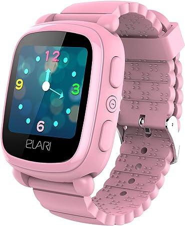 Reloj Inteligente Elari KidPhone 2 para niños. El Mejor Reloj para niños con rastreador GPS (GPS/GLONASS/LBS Tracking). Reloj Inteligente Elari con Pantalla táctil Brillante y Chat de Voz Rosa(Pink): Amazon.es: Electrónica