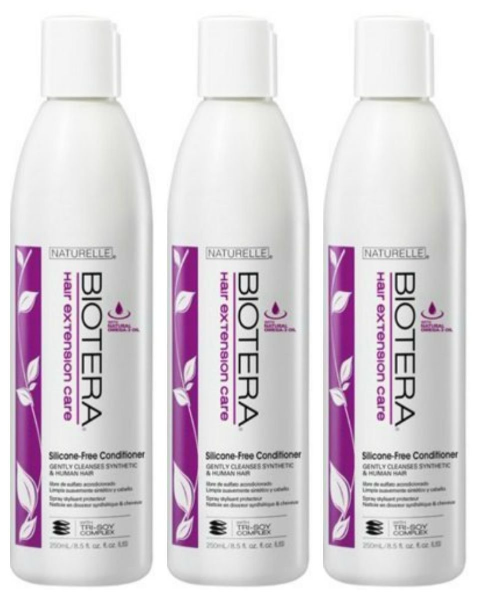 Amazon Lot Of 3 Bioterra Hair Extension Care Silicon Free Wash