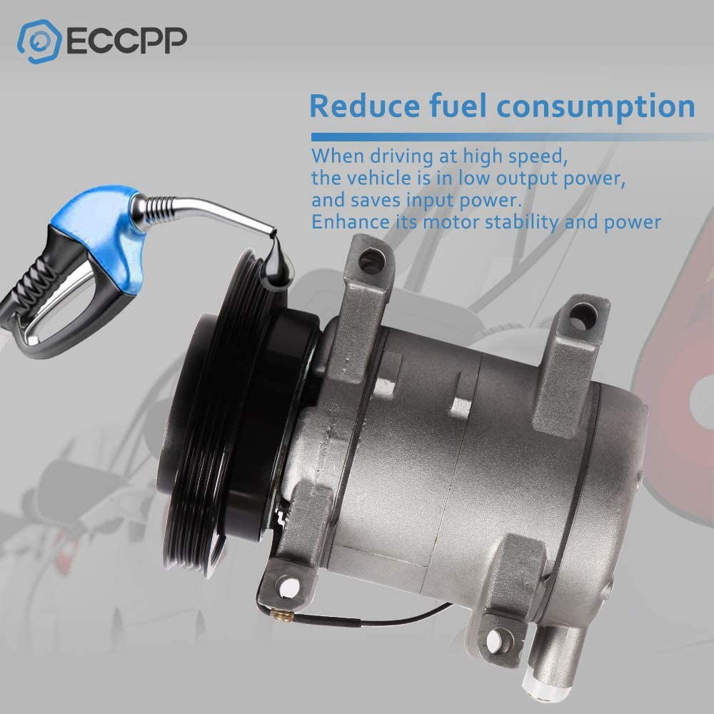 ECCPP Replacement for New CO 10386C fits 1999-2004 Frontier Xterra 3.3L A//C Compressor