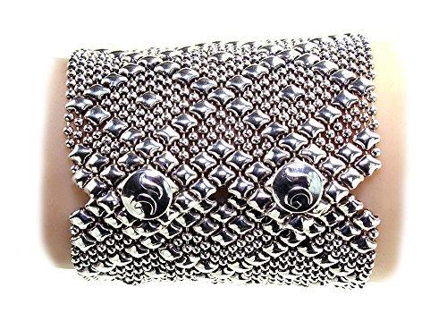 Bracelet Argent Antique b26-as SG Métal liquide par Sergio Gutierrez-3tailles-SG Étui & Chiffon de nettoyage inclus