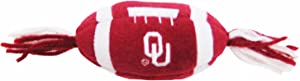 Pets First NCAA Oklahoma Sooners Catnip Toy in Football Shape with Team Logo in Vibrant Team Color
