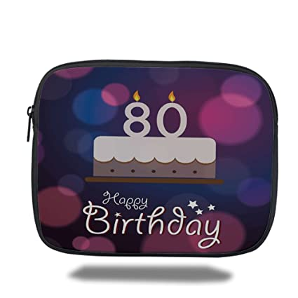 Amazon Laptop Sleeve Case80th Birthday DecorationsAbstract