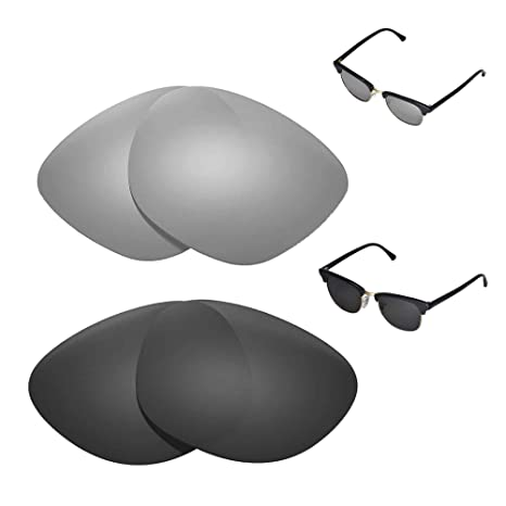 6937a36648 Image Unavailable. Image not available for. Color  Walleva Polarized  Titanium + Black Replacement Lenses for Ray-Ban ...