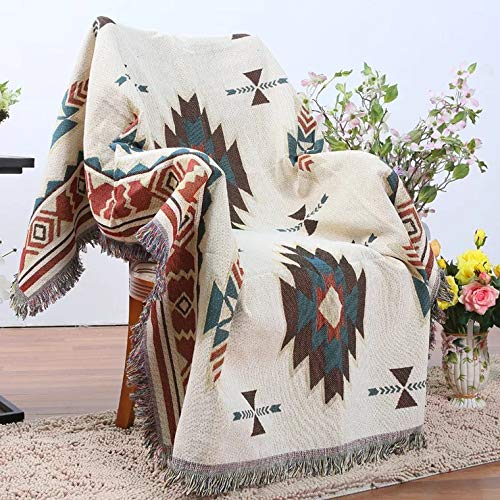la literie la Plage Les Pique-niques la d/écoration de la Maison Le Camping HILTOW Couverture en Tapisserie tiss/ée g/éom/étrique id/éale pour Le Yoga