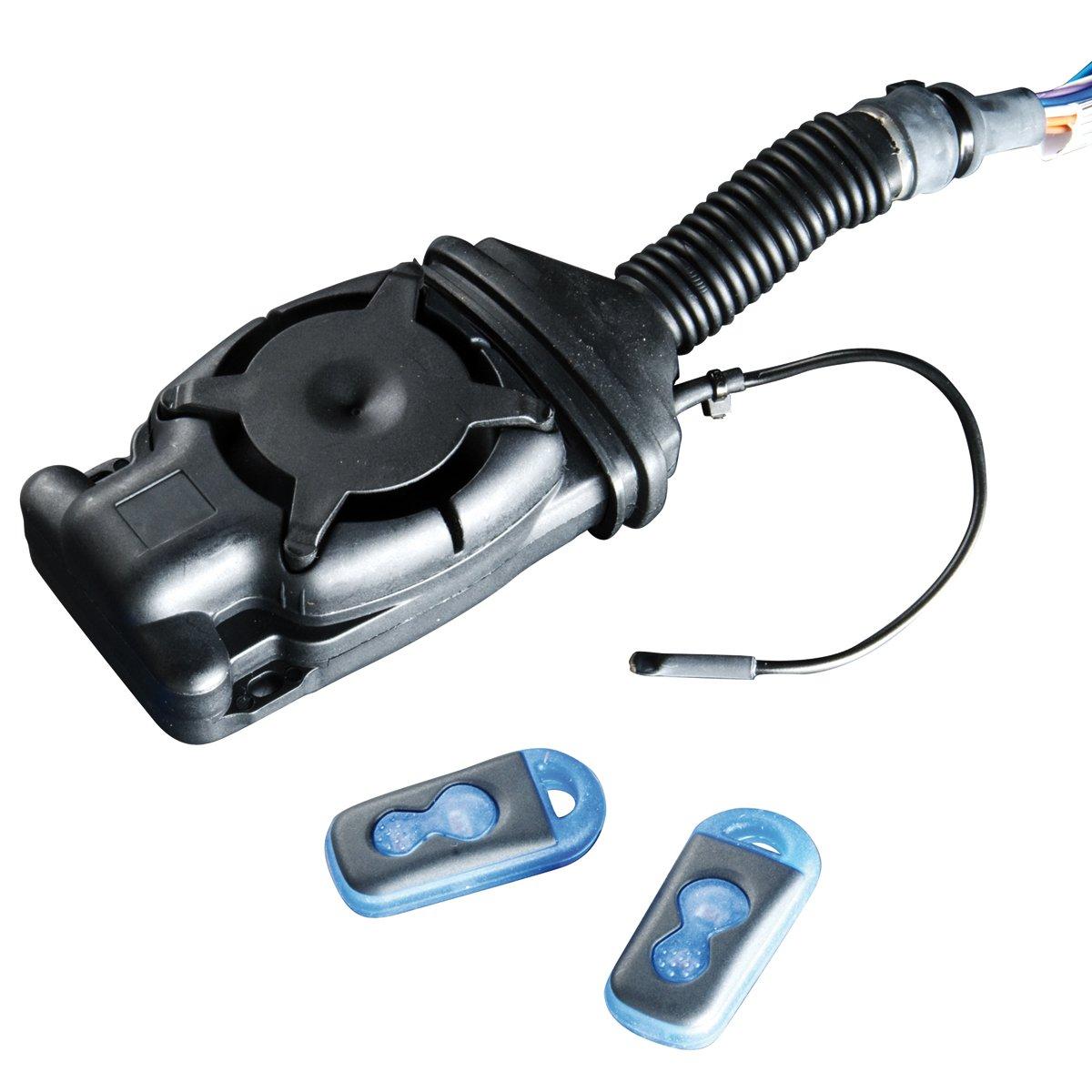 M+S Funk-Alarmanlage LEGOS 4 inkl. Fernbedienungen fü r Motorrä der, Roller und Quads, Alarmsystem mit 114 dB, Motorrad Sicherheitstechnik mit Notstromakku, erweiterter Diebstahlschutz mit Zusatzsensoren 080630.