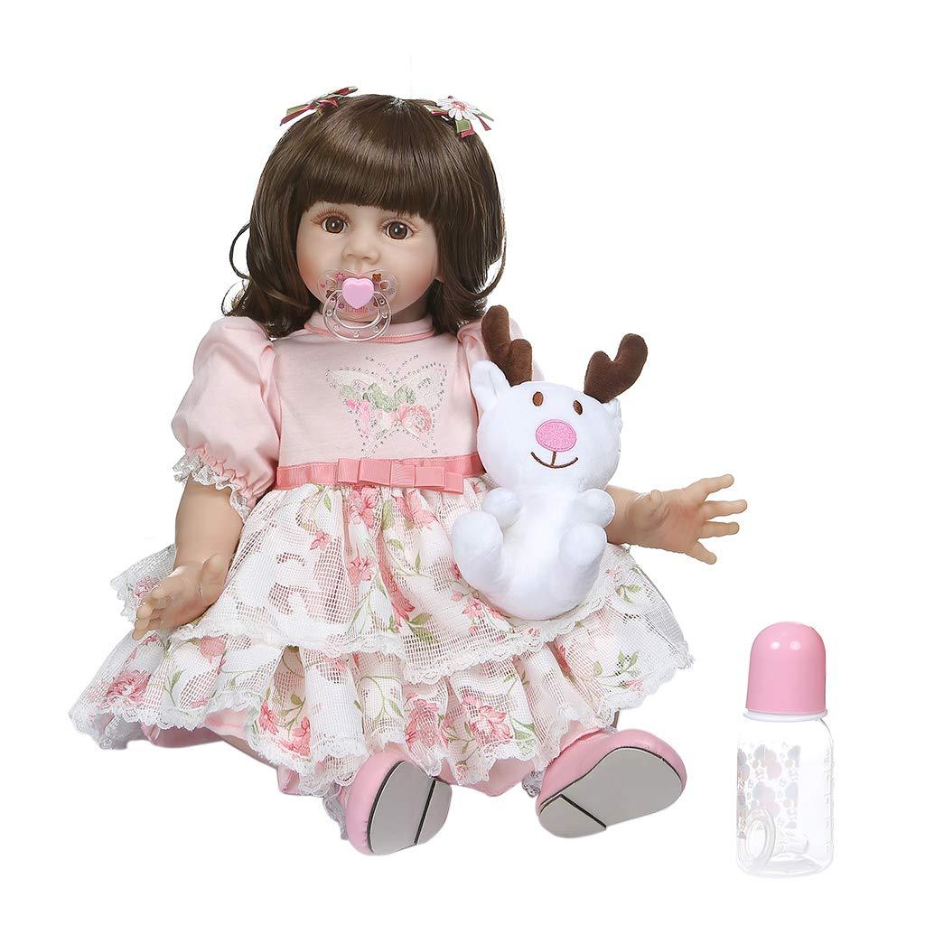 - Vivitoch Muñeca Realista Realista Realista de 24 pulgadas de vinilo de silicona suave bebé bebé niña realista hecho a mano juguete para niños cumpleaños regalo de Navidad