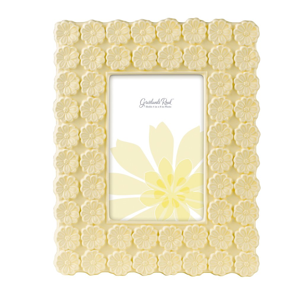 Grasslands Road Everyday Life Photo Frame, Cream Flower, 4 by 6-Inch