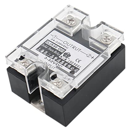 Baomain SSR-40DD 40A Signal Phase DC Solid State Relay DC 3-32V DC 24-220V