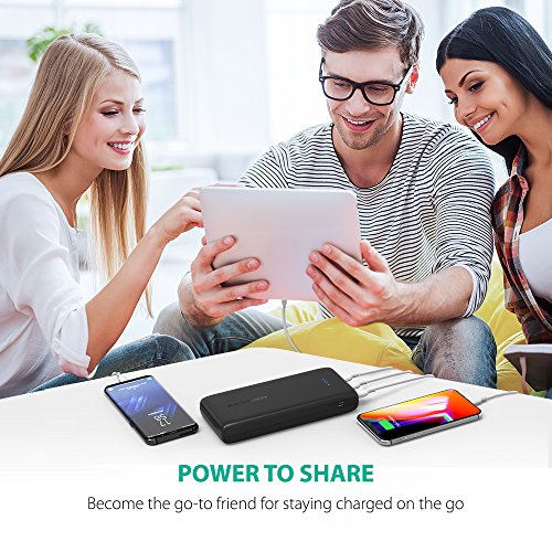 Portable Charger 32000 RAVPower 32000mAh Battery Pack 6A Output, USB Power Banks for iPhone Xs, iPhone X, Galaxy and More (3-Port, 2.4A Input, Triple iSmart 2.0 USB) by RAVPower (Image #7)