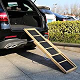 Kinbor Pet Ramp 66 inch Holds 100LBS, Portable Lightweight Dog and Cat Ramp for Cars, Trucks and SUVs