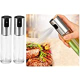 2 Porta Azeite Vinagre Spray Borrifador Chef Galheteiro Inox