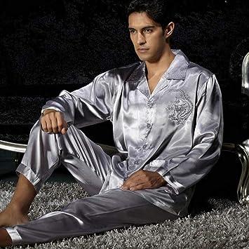 Pajamas Traje de Pijama, Algodón con Bolsillos Albornoz, Abrigo de Verano y otoño de