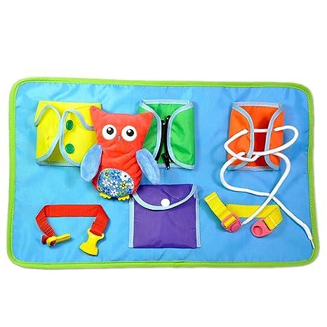 Per Tableros de Aprendizaje Materiales Montessori Juguetes Educativos para Aprender Vestirse Tablas de Telas Blandas