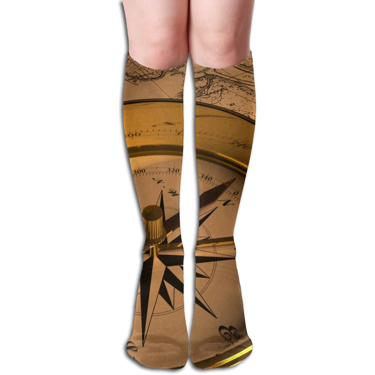 Girls Socks Mid-Calf Read A Compass Winter Cool For Thanksgiving Day