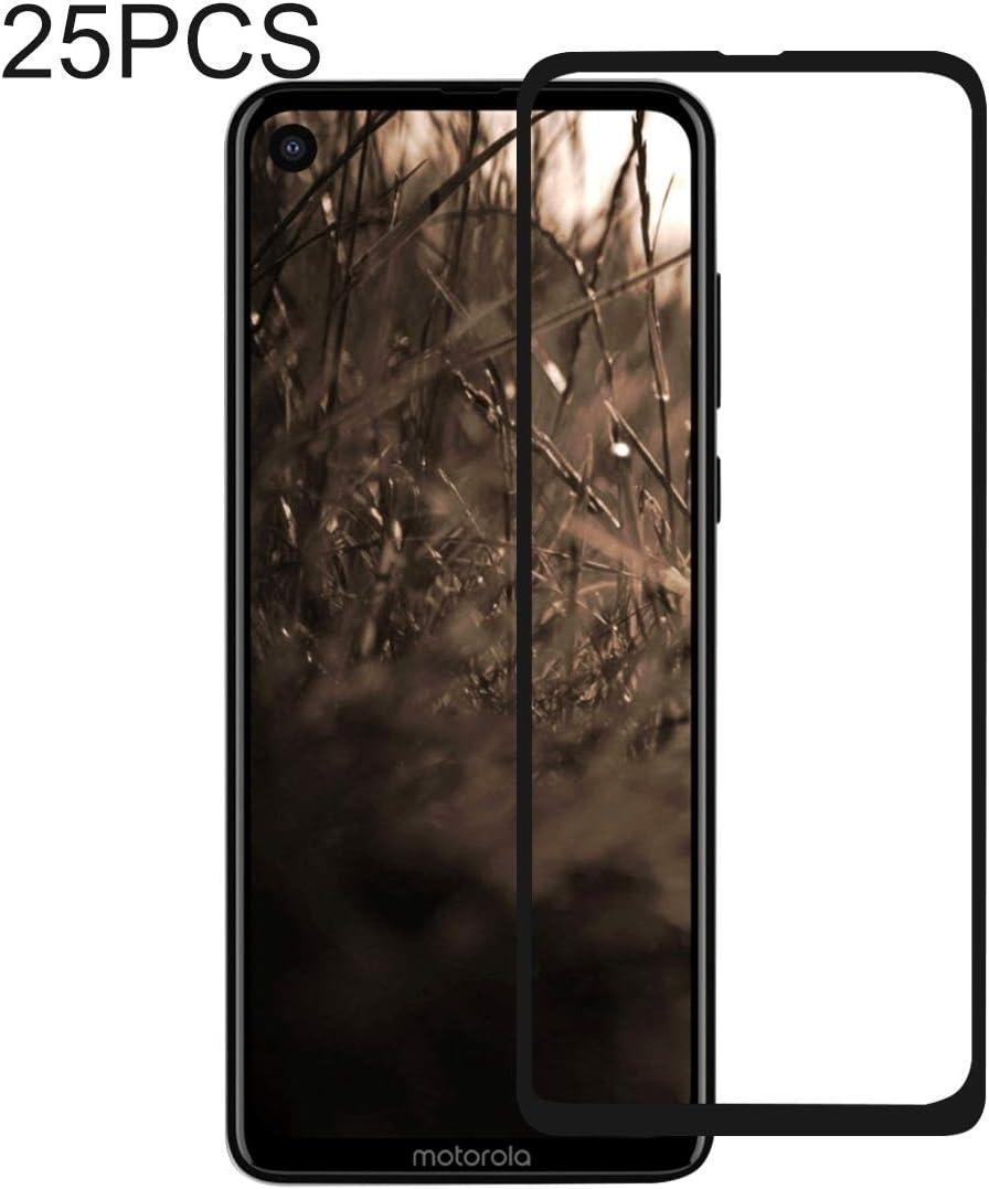 LGYD for 25 PCS Full Glue Full Cover Screen Protector Tempered Glass Film for Motorola Moto P40