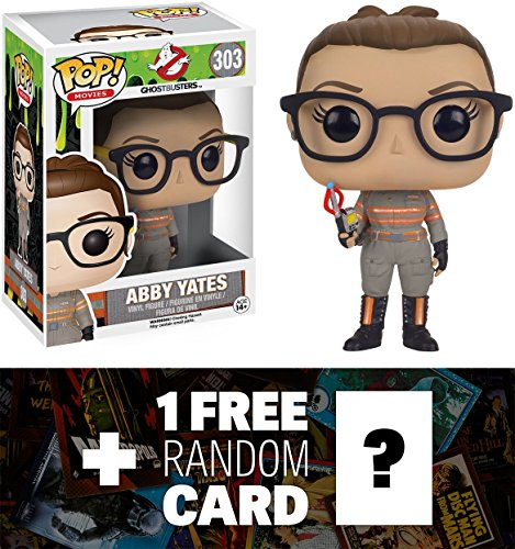 Abby Yates: Funko POP! x Ghostbusters Vinyl Figure + 1 FREE Sci-fi & Horror Movies Trading Card Bundle (076238)