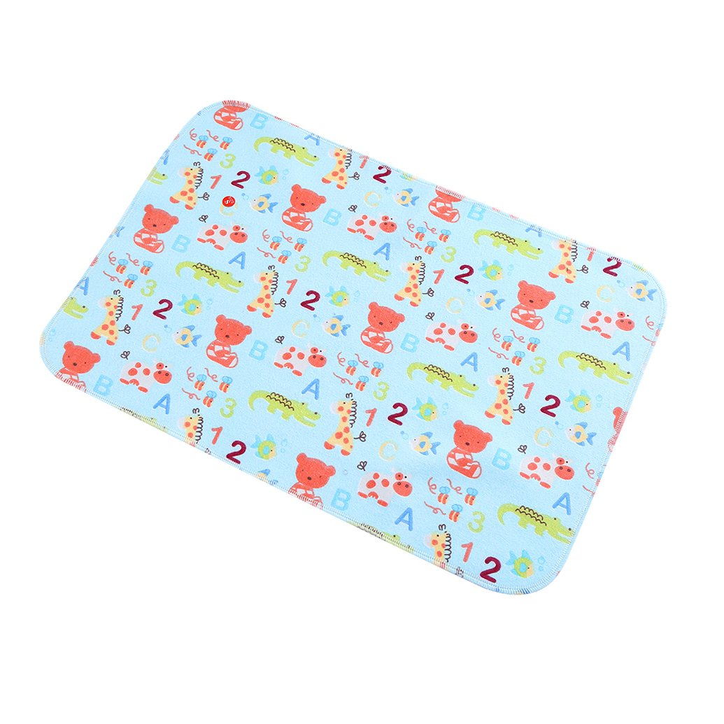 babylaza para beb/é impermeable lavable para cambio de pa/ñales Mat Pad 3 capas impermeable Talla:27.5x19.5 inch small whale