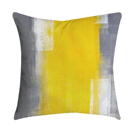 VJGOAL Impresión Amarilla Suave cómodo Funda de Almohada ...