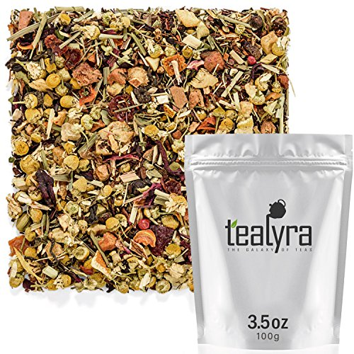 Neuro Edge - Tealyra - Healthy Edge - Immunity Booster - Detox - Weight Loss - Herbal Loose Leaf Tea Blend - Pu-Erh - Mate - Oolong Tea - Caffeine Level Low - All Natural Ingredients - 100g (3.5-ounce)